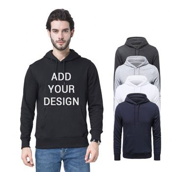 Cotton Supplier Brand Eco Friendly Pullover Unique Long Thick Blank Hoodies Men