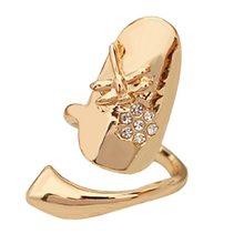 Модное индивидуальное кольцо классная Готическая вспышка Стрекоза со стразами цветы женский перстень защита украшения для ногтей Bijoux(Китай)
