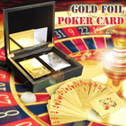 New Products Golden Poker Best Sellers 24K Gold Plated Bulk Paper Game Playing Card For Sale