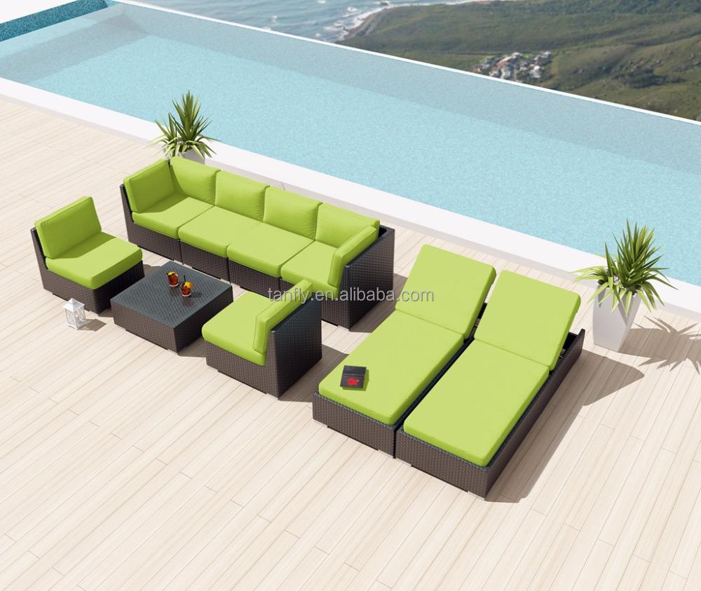 Плетеная поли ротанговой мебелью, открытый lounge диван
