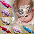 New Baby Kids Flower Lace Headbands Rose Floral Multi Color Western Fashion Princess Kids Hairwears