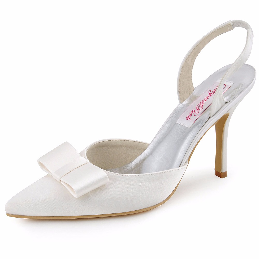 Black Satin Peep Toe Evening Shoes