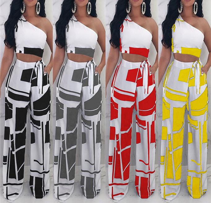 Magicmk Ropa De Moda Mujer Joven Top Y Pantalones Senora Un Hombro Ropa Buy Vestidos A La Moda Para Senoritas Al Por Mayor Vestidos De Moda Vestidos De Modelo De Moda Product On