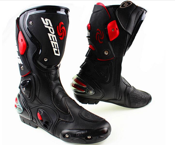 Для мотоцикла про-байкер скорость гоночные ботинки, Мотокросс сапоги, Мотоциклов сапоги 3 цвета