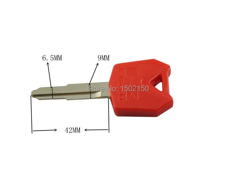 Красный одного корыта ключ для ZX6R 9R 10R 12R 14R NANJA 600 650 ZZR мотоцикл кодовый бланк с лезвием