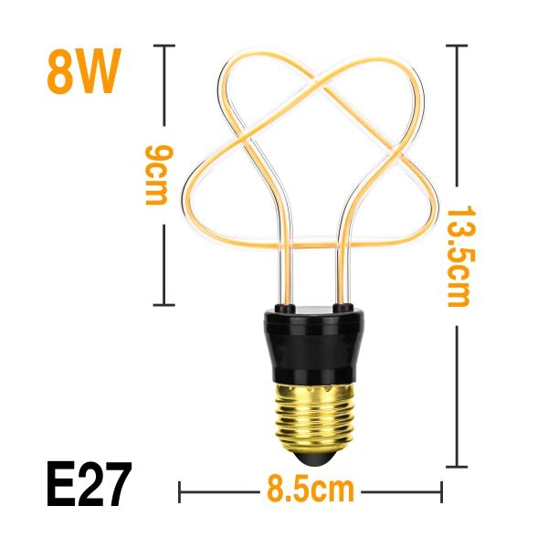Ретро лампочки Эдисона E27 3W 4W 4,5 W 8W AC220V уникальный винтажный свет мягкая светодиодная нить Ampoule Bombilla для подвесного светильника декора(Китай)