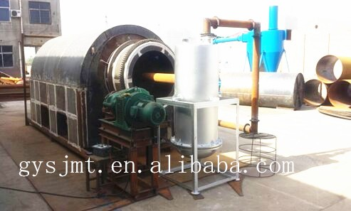 Screw type palm shell/wood chips rotary type carbonization machine price charcoal for sale