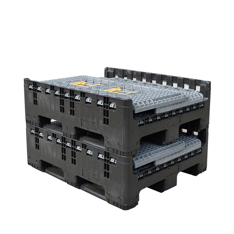 1200*1000*975 мм большие промышленные пластиковые коробки для поддонов, пластиковые складные корзины