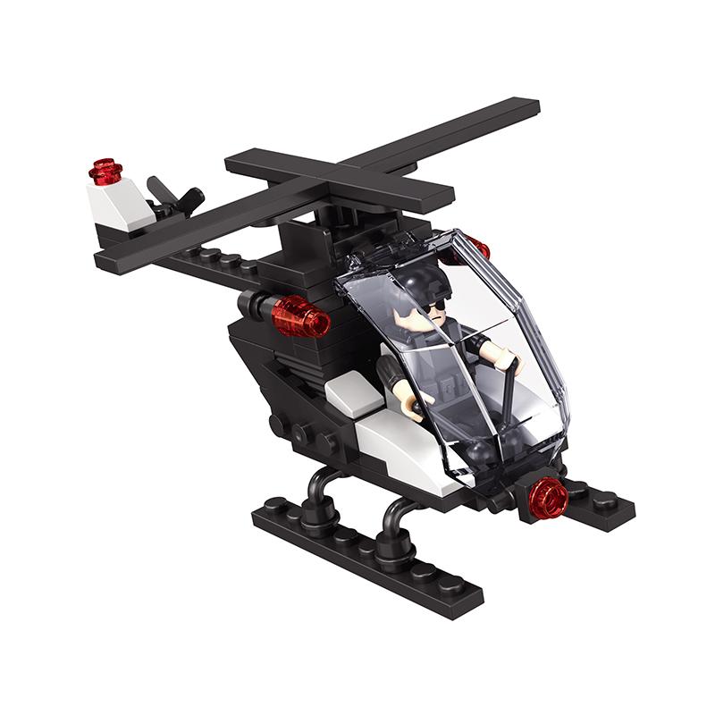 228 шт. Swat игрушка вертолет строительные пластиковые блоки Блок Игрушка спецназ