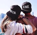 Hot Sale KING QUEEN Embroidery Snapback Hat Acrylic Men Women Couple Baseball Cap Gifts Fashion Hip