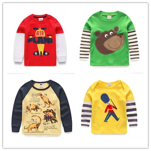 1 8 years Boys T shirt Kids Tees Baby Boy brand t shirts Children tees Long