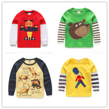 1-6Y new Boys T-shirt Kids Tees Baby Boy brand tshirts Children tees Long Sleeve 100% Cotton Cars Fireman Top Quality Free