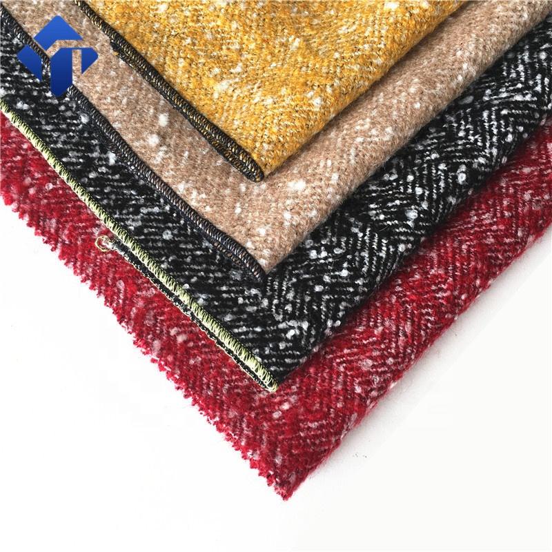 Китайский производитель, шерстяная ткань букле для женского костюма