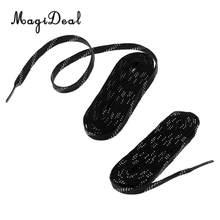 MagiDeal 1 пара для взрослых и детей Нескользящие Премиум спортивные хоккейные обувь для роликов шнурки 96/108/120 дюймов черные шнурки(Китай)