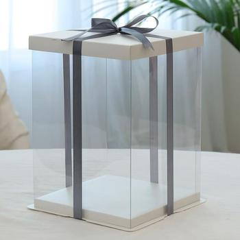 plastic cake box clear plastic cake box