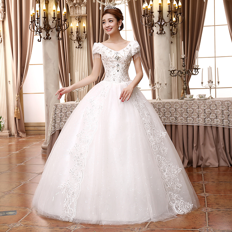 Big Wedding Ball Gowns: Wedding Dress 2015 Sweetheart Sleeveless Lace Wedding