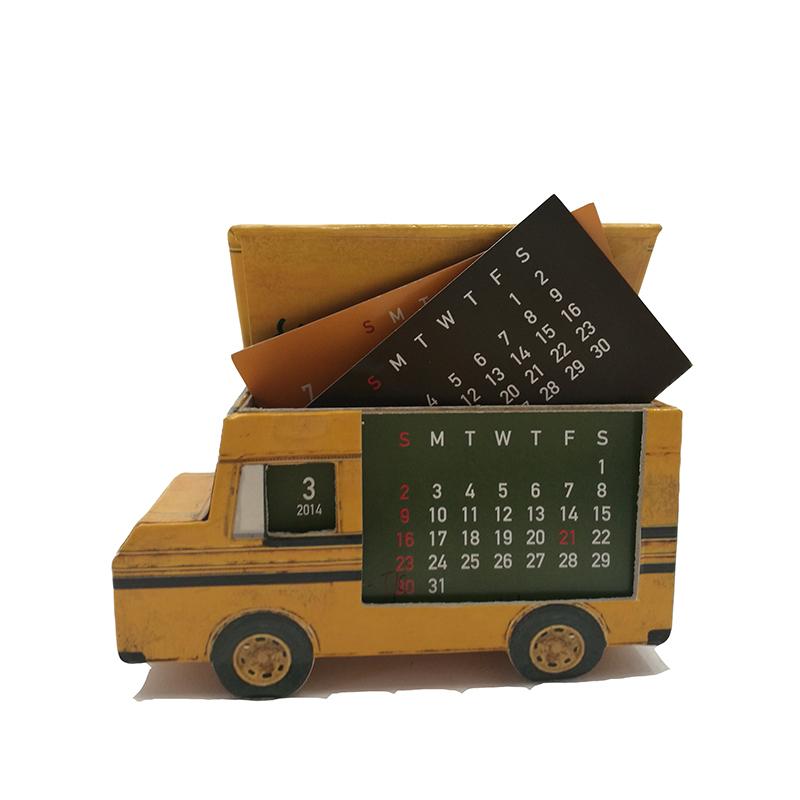 Индивидуальный Стайлинг, креативный милый настольный календарь, Стайлинг модели автомобиля, календарь
