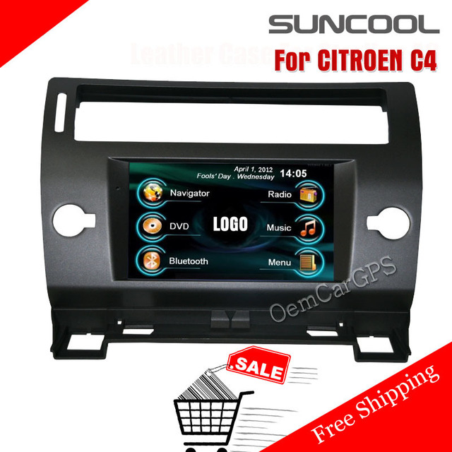 roadrover 2 din in dash car gps headunit dvd player bluetooth mp3 mp4 for citroen c4 with touch. Black Bedroom Furniture Sets. Home Design Ideas