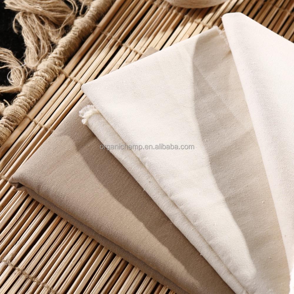 Сертифицированная конопляная Органическая хлопковая джинсовая ткань для одежды и джинсов
