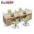 Modern Office System Furniture Four People Office Workstation with divider