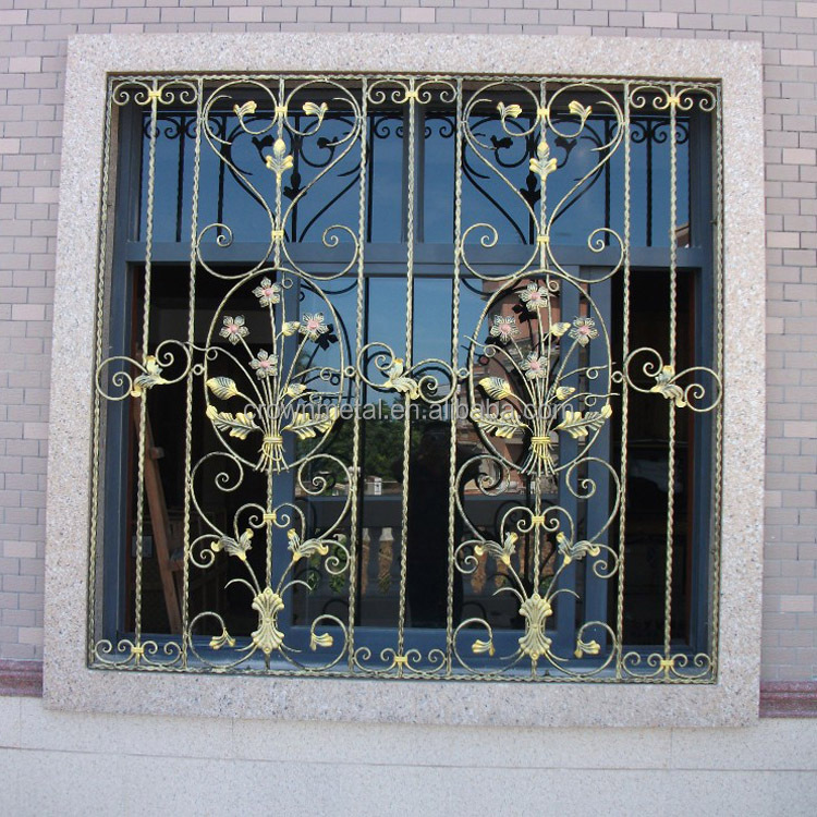 Used Wrought Iron Home Decoration Windows Designs Buy Iron Window Iron Window Grills Iron Window Grill Color Product On Alibaba Com