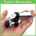 8X20 Monocular Mini Pocket Monocular Silver Color Optical Portable Monocular Telescope a Good Travel Partner