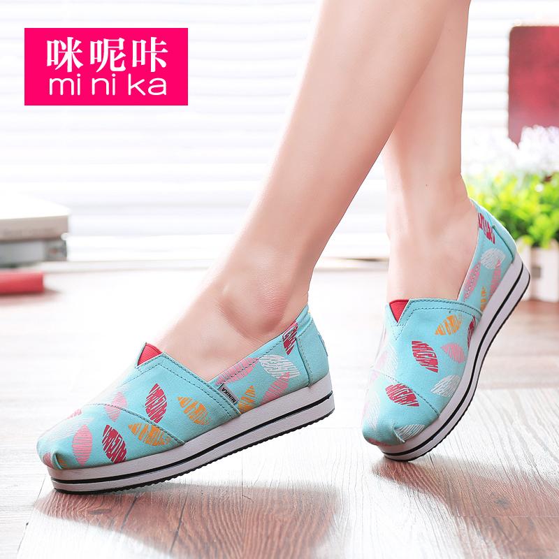Minika/оптовая продажа; Женская модная быстросохнущая обувь; Амортизирующая парусиновая повседневная обувь на плоской подошве; Кроссовки