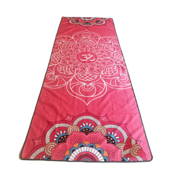 Custom print Microfiber non slip hot yoga mat towel