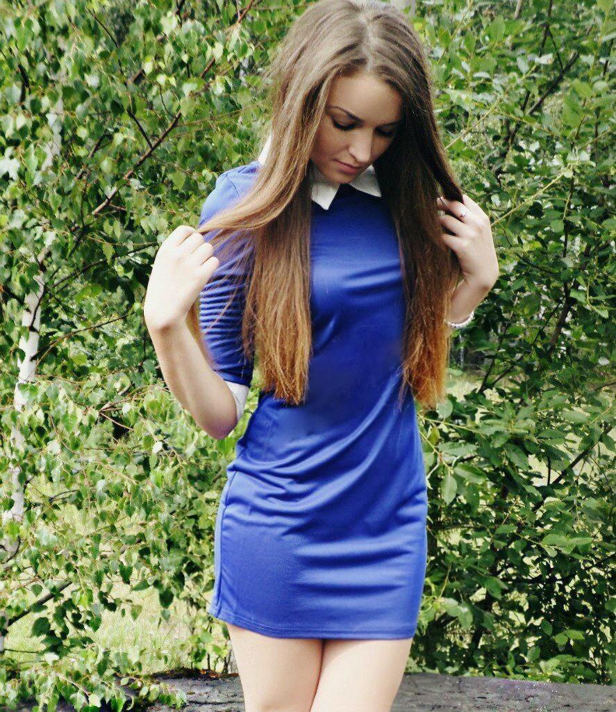 משלוח חינם חדשים האופנה החורף והסתיו הצווארון להנמיך חצי שרוול הלבוש אלגנטי שמלה כחולה לנשים ללבוש QAF019LMX