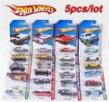 5pcs lot 100 Hotwheels cars miniatures hot sale Original race cars scale models mini alloy cars