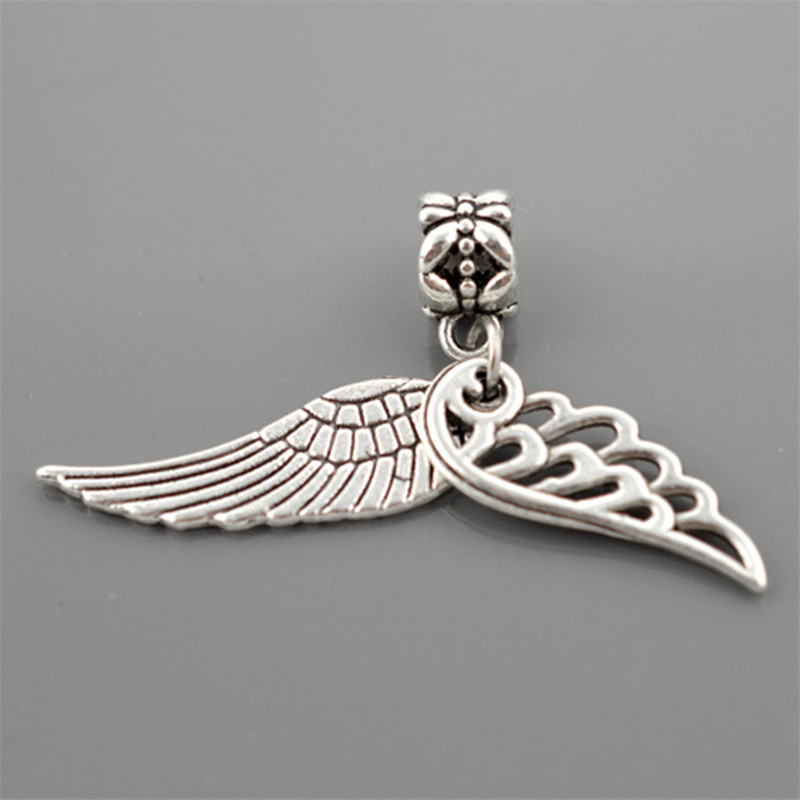 ab773a7c8 Free Shipping 1pcs Silver Bead Charm European Silver With Angel
