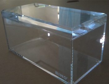 High quality customized size clear acrylic display storage box with hinged lid