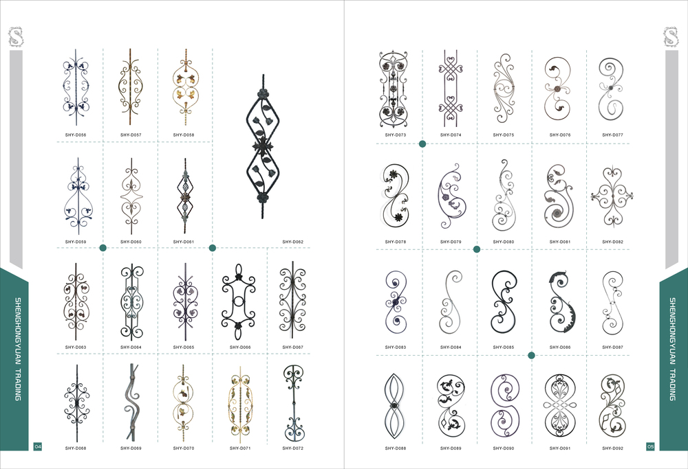 Casting Wrought Iron Ornamental Fence Scroll View Cast