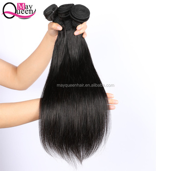 Mayqueen Hair 100% Raw cuticle aligned virgin hair silky Straight Brazilian Human Hair Weave bundles
