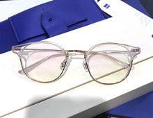 Нежная Классическая оправа для очков, очки для близорукости по рецепту, полуоправа для компьютера, для женщин и мужчин, очки с прозрачными л...(Китай)