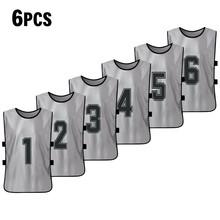 6 шт. Баскетбол для взрослых Pinnies быстросохнущие баскетбольные майки тренировочный жилет(Китай)