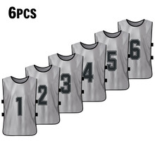 6 шт., быстросохнущие баскетбольные майки для взрослых, футбольные майки, баскетбольные пинни, Футбольная команда, тренировочный спортивный...(Китай)