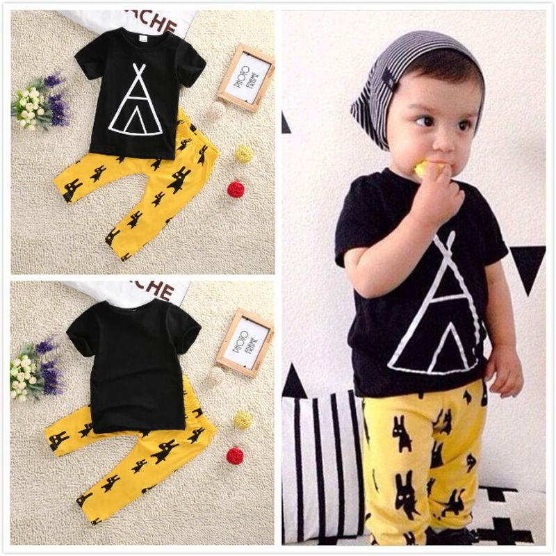 Summer kids clothes sets boy t-shirt+pants suit clothing set Clothes newborn sport suits baby boy clothes children boys clothes
