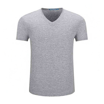 wholesale Custom Garments Promotional Men's Clothes Casual V Neck T-Shirts