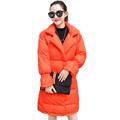 Fashion Woman Winter White Duck Down Puffer Coats Orange Black White Parka Women s Casual Lightweight