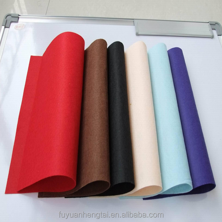 High-quality 100% natural colored wool felt fabric