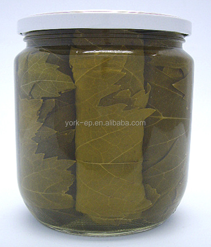 High quality canned salty vine leaves