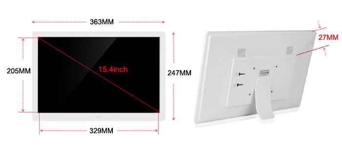 ЖК-цифровая фоторамка 15 дюймов циклической записи Mp3 Mp4 электронная цифровая рамка для фотографий