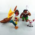 Moana Princess Maui Waialik Heihei PVC Figures Toys 5pcs set Kids Toys Christmas Birthday Gift 8