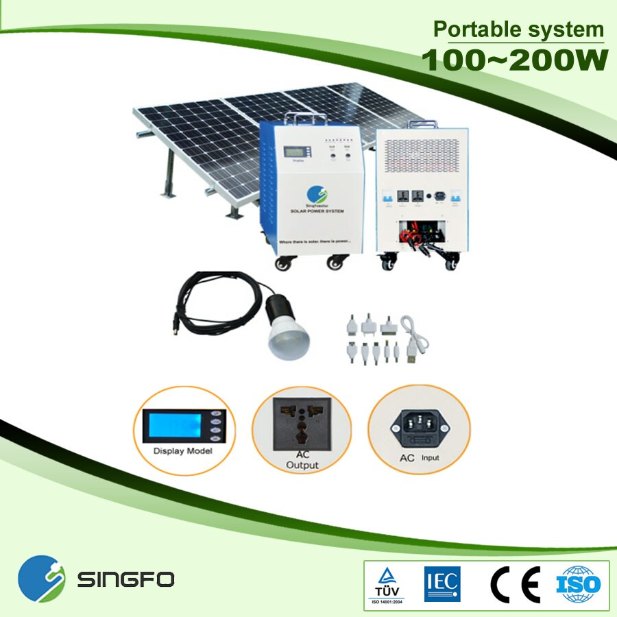Portable 500W off-grid solar power system for small homes ...