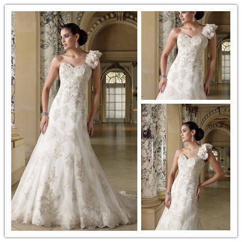 Unique Designe Floral Spanish Lace Wedding Dresses One ...
