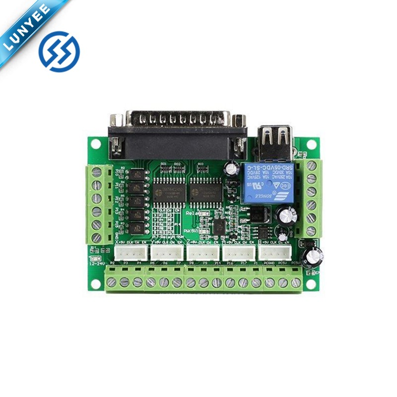 Upgraded 5 Axis CNC Breakout Interface Board For Stepper Driver Controller Mach3