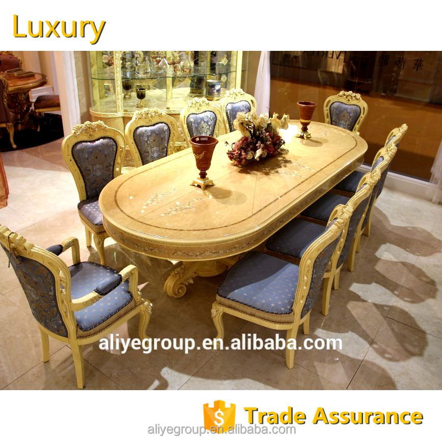 Gdm012 Aliye Furniture Luxury Rectangle Dining Table For Big Family Luxury Home Dining Room Table Furniture Set View Solid Wood Antique French Style Dining Table Aliye Product Details From Guangdong Luxury