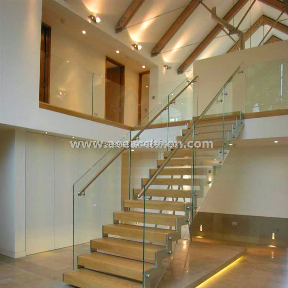 Steel Staircase Zig Zag Stringer Glass Stairs With Glass Railings Buy Zig Zag Stairs Glass Stairs Steel Staircase Product On Alibaba Com