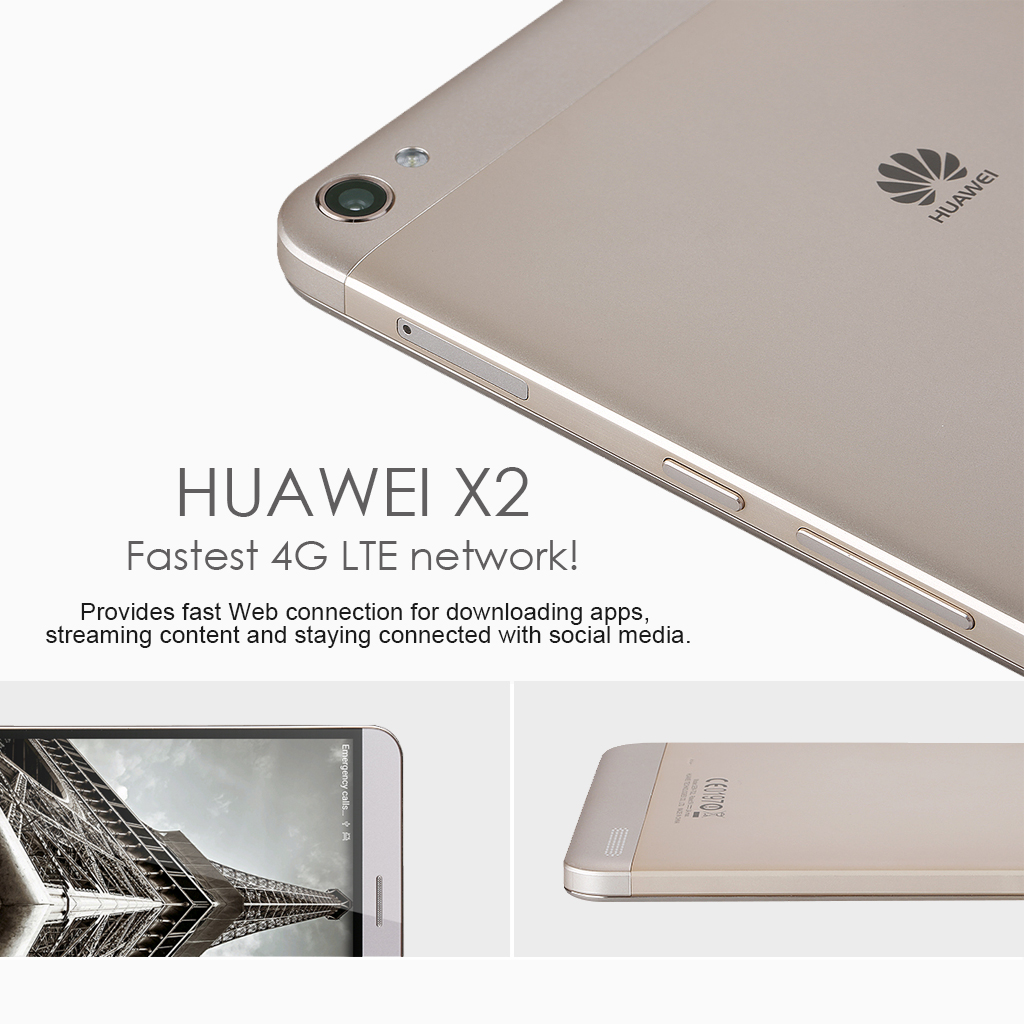 Huawei MediaPad X2 4G LTE Phablet Android 5 0 7 inch HD 5000mAh Octa